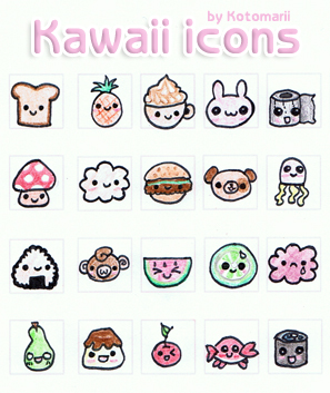 Kawaii icons 50x50 Set 1. by Kotomarii