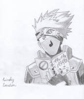 Kakashi Hatake ~ Reading a Book by Dragonfly224