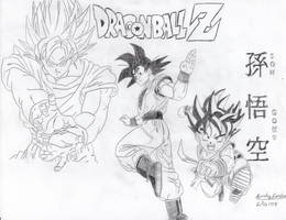 My Favorite Poses of Goku by Dragonfly224