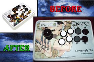 My Mad Catz SE Fightstick Mod ~ IBUKI by Dragonfly224