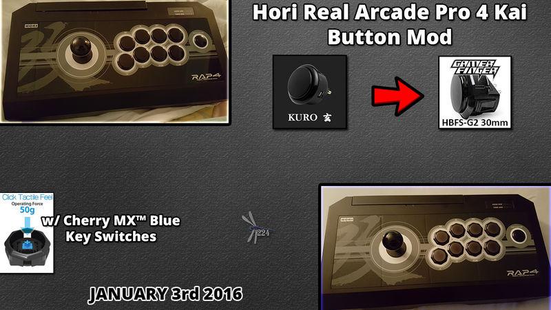 Hori RAP4 Kai Button Mod by Dragonfly224