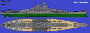 Man o' War Class Battleship Blueprints