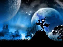 Princess Luna Lunar Background by StickerBomber