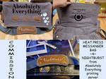 Commission For Nightburst HTV messanger bag by StickerBomber