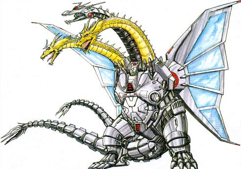 Godzilla Vs Mecha King Ghidorah Concept Art - Godzilla...