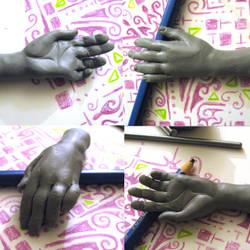Anatomy practice, hand by oddno1ishere