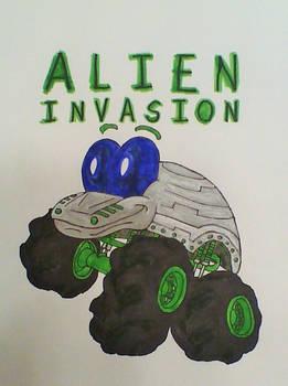 Alien Invasion Truckin Pals