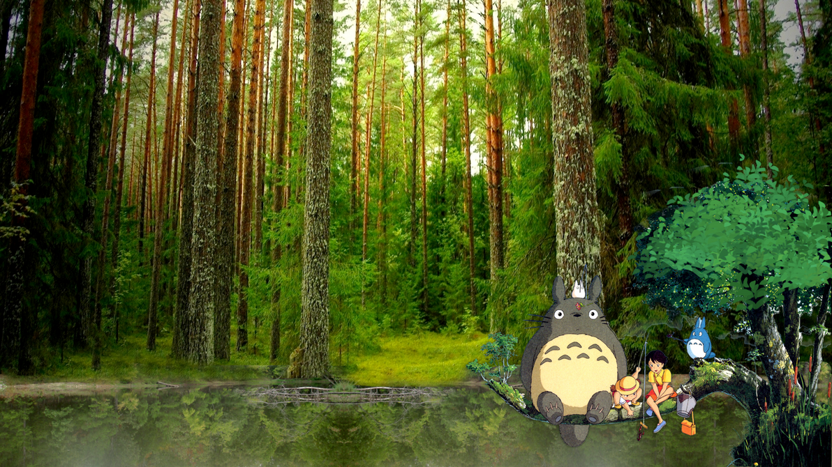 Good Wallpaper Forest Totoro - my_neighbor_totoro_wallpaper_by_andydrewx22-da0w7zp  Photograph_464516 .png
