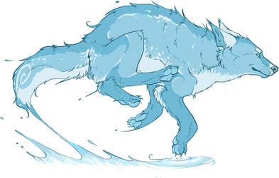 Wolf of Water by Majajaja