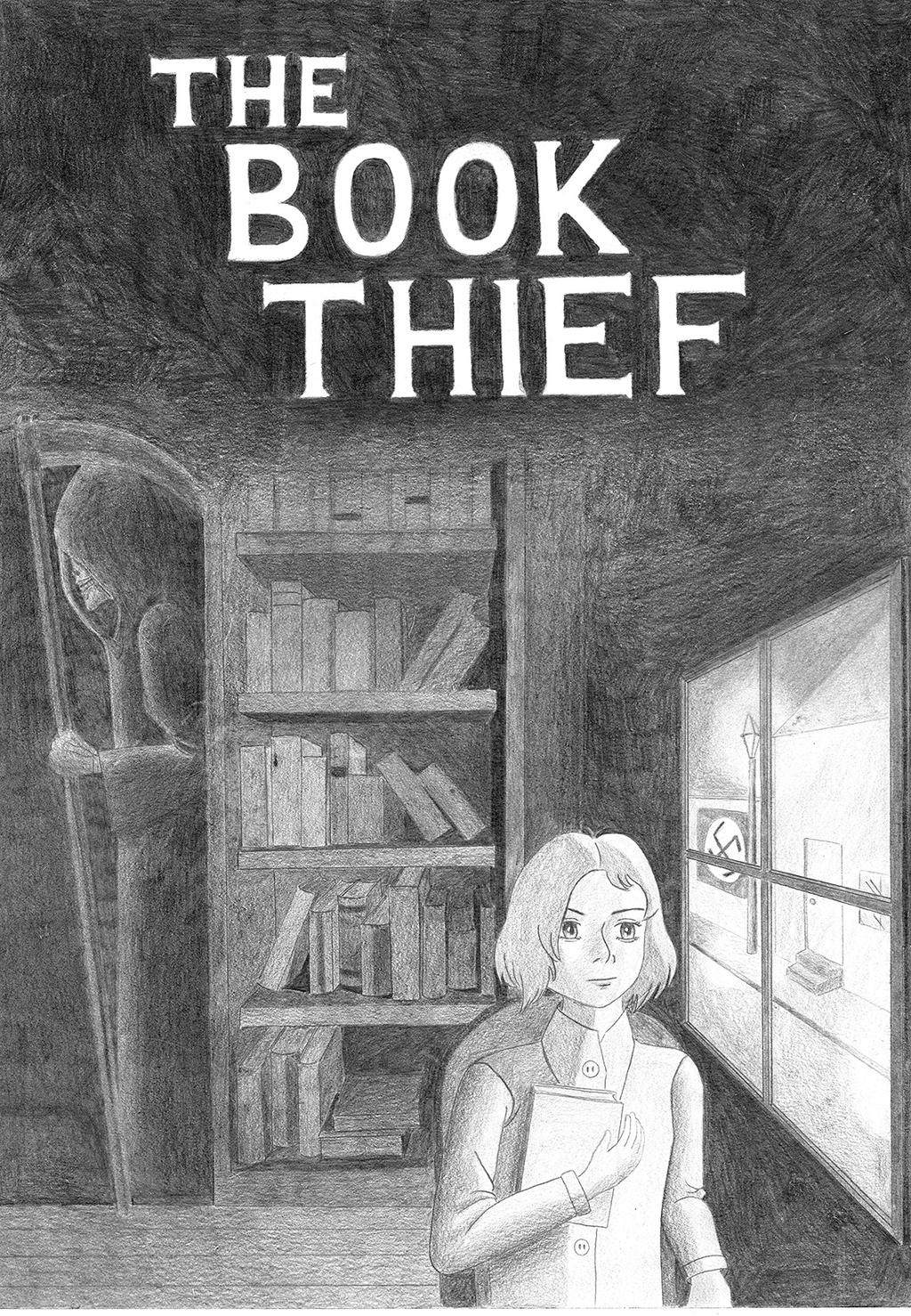 Book Thief Cover Art : The book thief cover by denakitan on deviantart