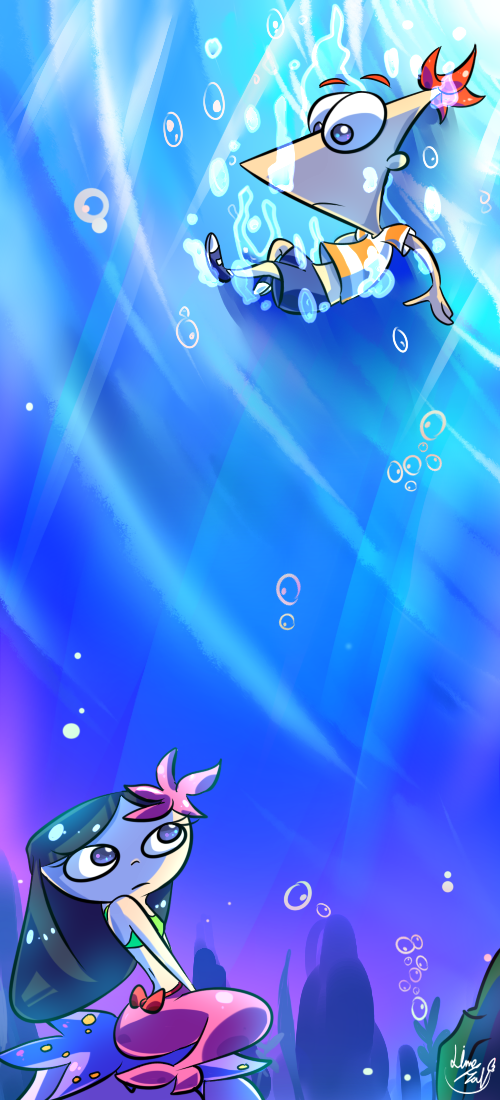 Phinbella_UNDER THE SEA by 13Hael