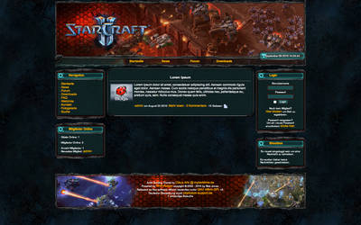 Starcraft 2 template by mydarktime