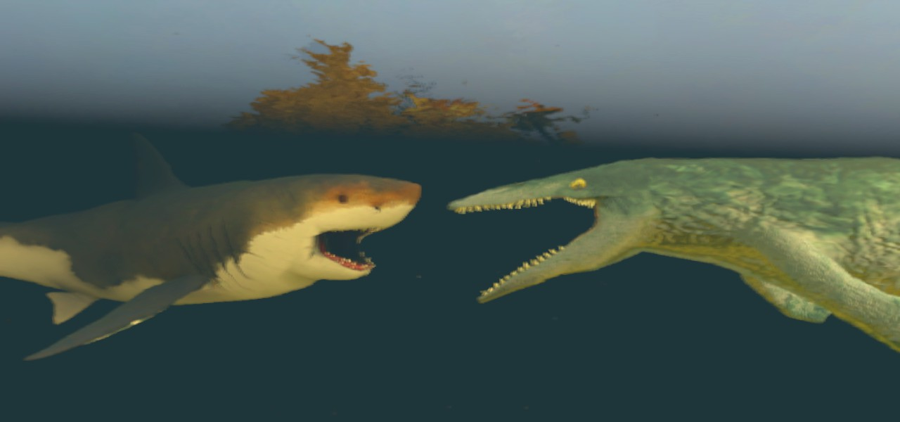 Megalodon vs Mosasaurus by kongzillarex619 on DeviantArt
