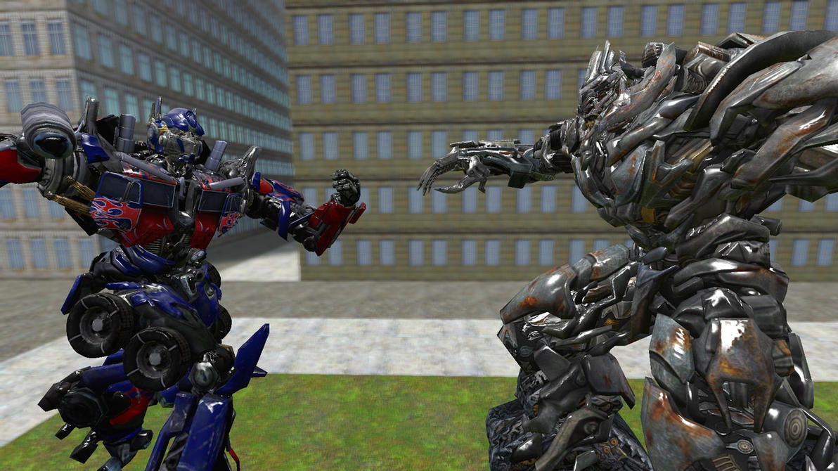 Optimus prime vs megatron the final stand by - Transformers cartoon optimus prime vs megatron ...
