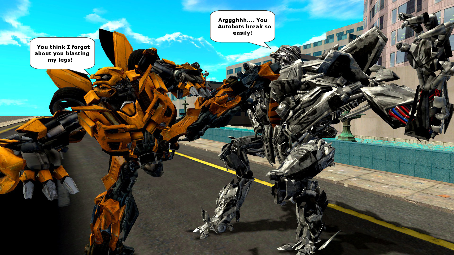 Bumblebee vs Starscream - Bing images