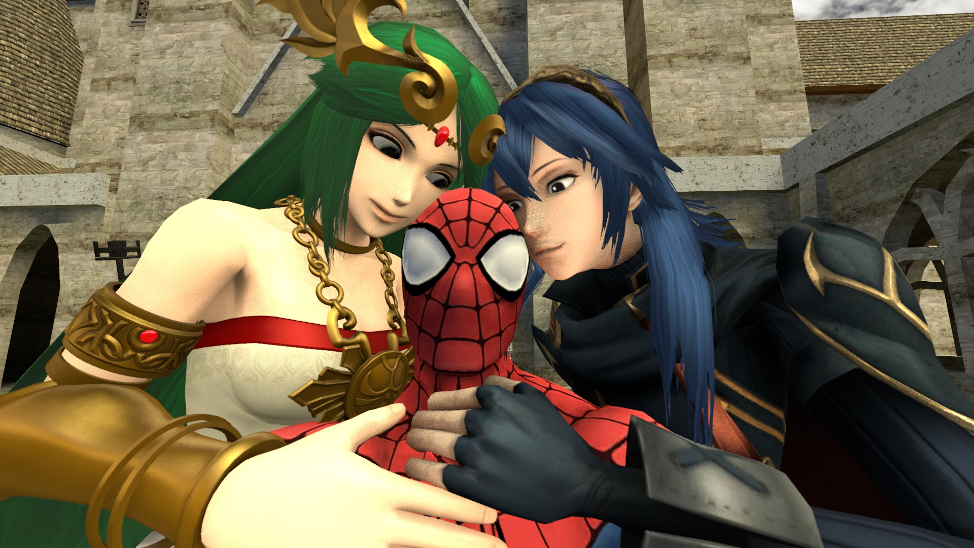 Love Triangle: Palutena x Spider-Man x Lucina by ...