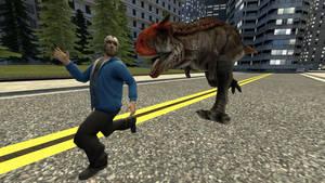 When Dinos Invade the City:  Carno vs Delirous
