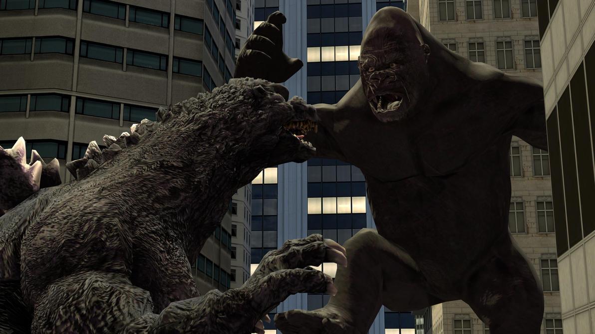Godzilla vs King Kong by kongzillarex619