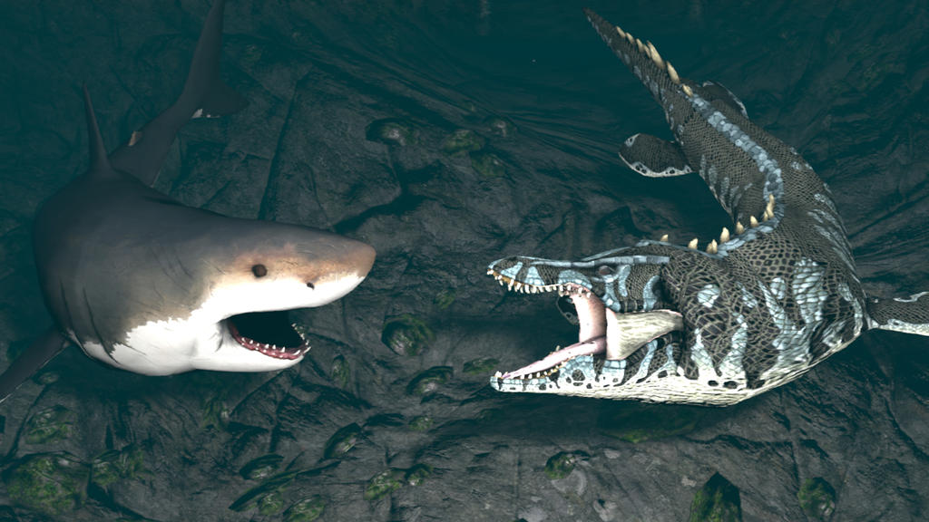 megalodon vs liopleurodon by kongzillarex619 on deviantart