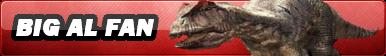 Big Al (Allosaurus) fan button by kongzillarex619