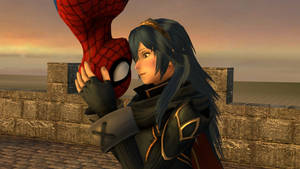 Lucina and Spider-Man : The view is nice