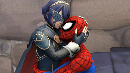 Lucina loves hugging Spider-man by kongzillarex619