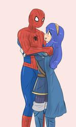 Lucina meets Spider-Man by kongzillarex619