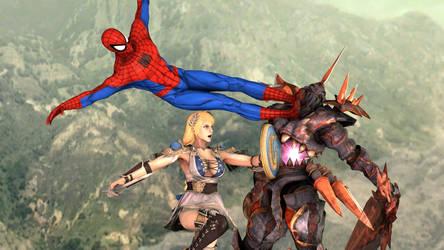 Spider-Man and Sophitia vs Nightmare