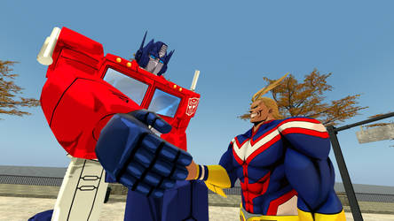Optimus Prime meets All Might
