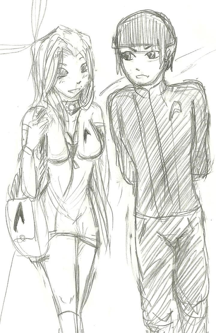 Kory and Spock by SilverxStarxDragon