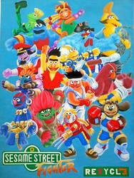 Sesame Street Fighter Alpha by rejhexz