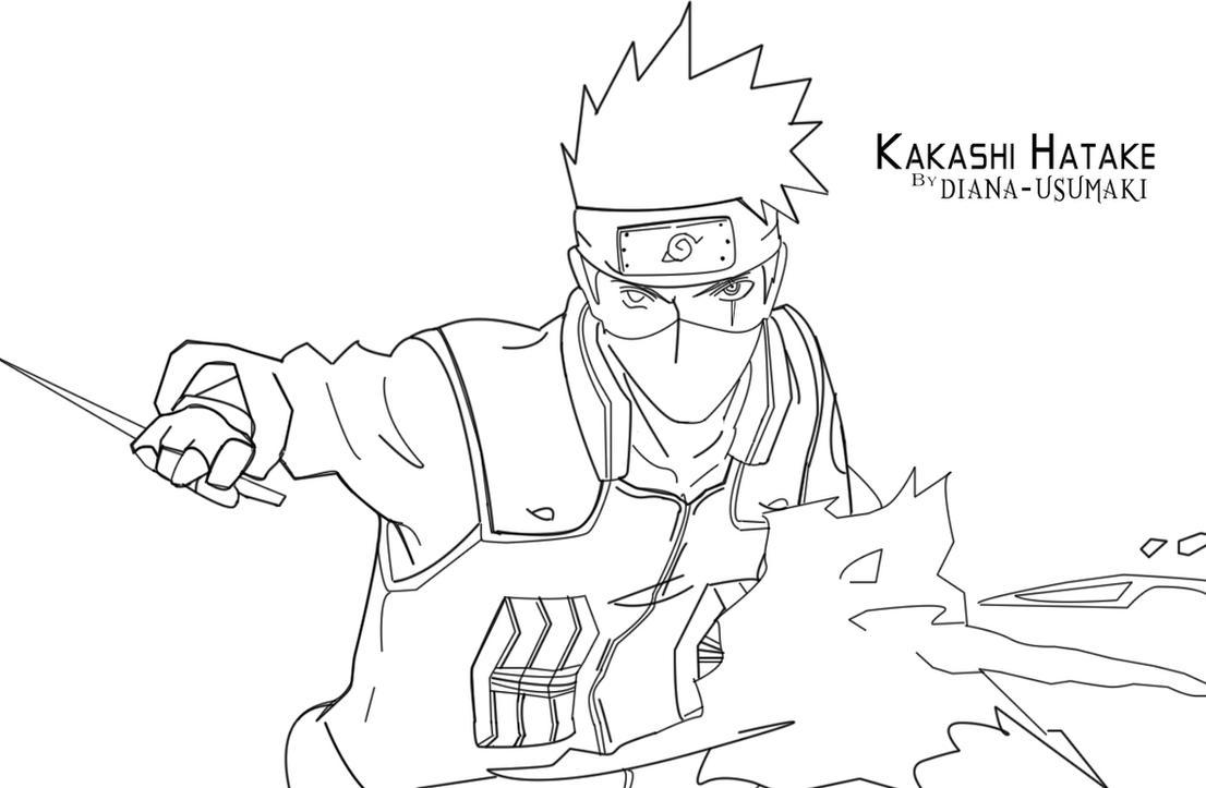 Kakashi Lineart By Diana-usumaki On DeviantArt