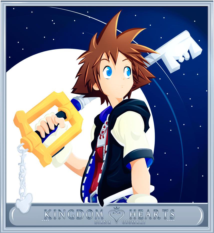 Sora Kingdom Hearts Sky by diana-usumaki