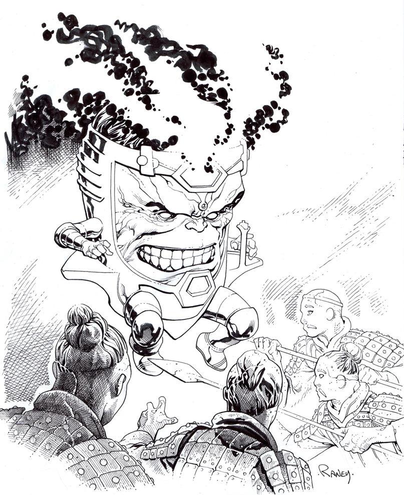 Modok vs Terracotta warriors by TomRaney