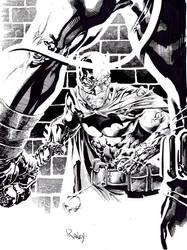Batman vs Bane by TomRaney