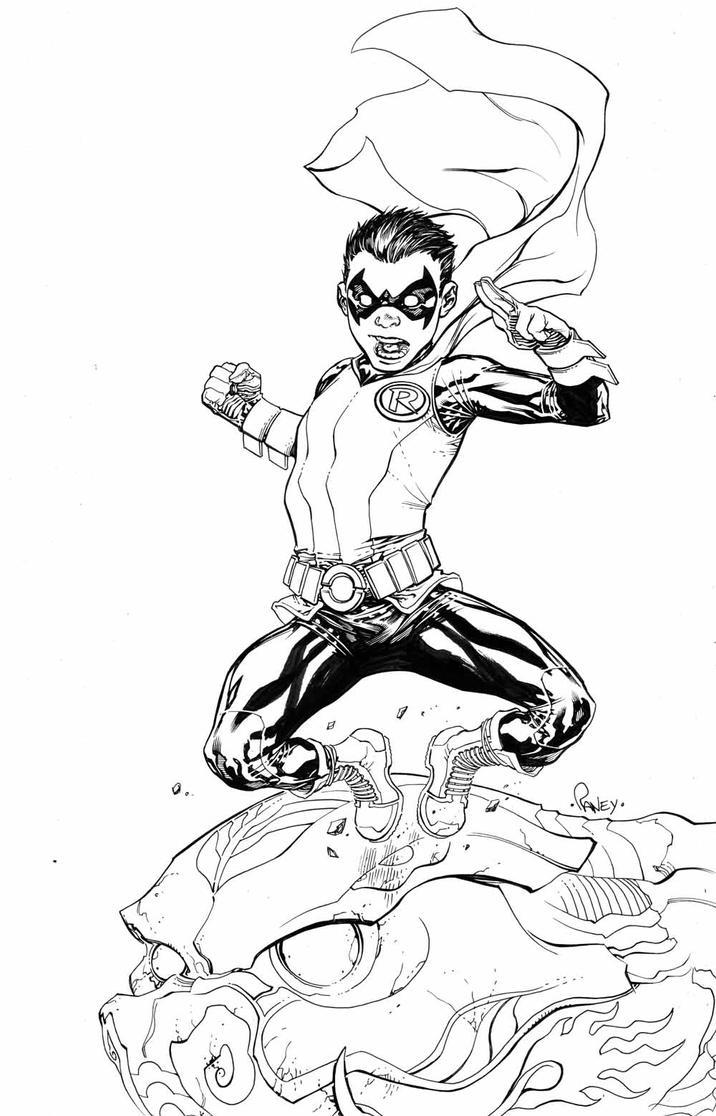 Damian Wayne by TomRaney