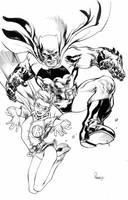 Batman and Robin, Dark Knight style by TomRaney