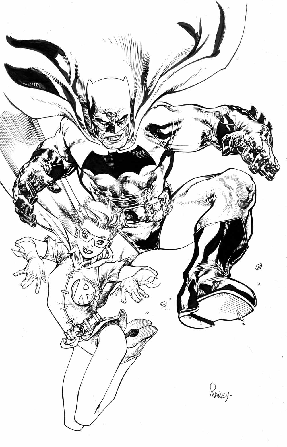 Batman and Robin, Dark Knight style by TomRaney