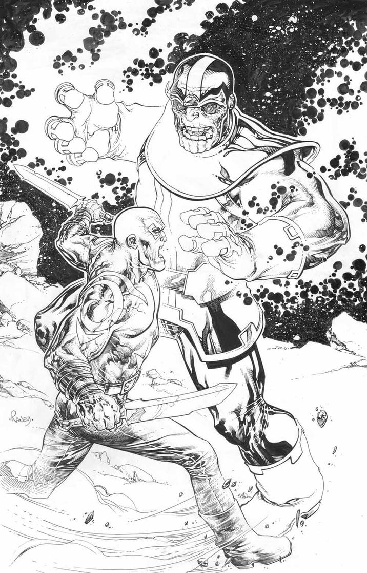 Thanos vs Drax! by TomRaney