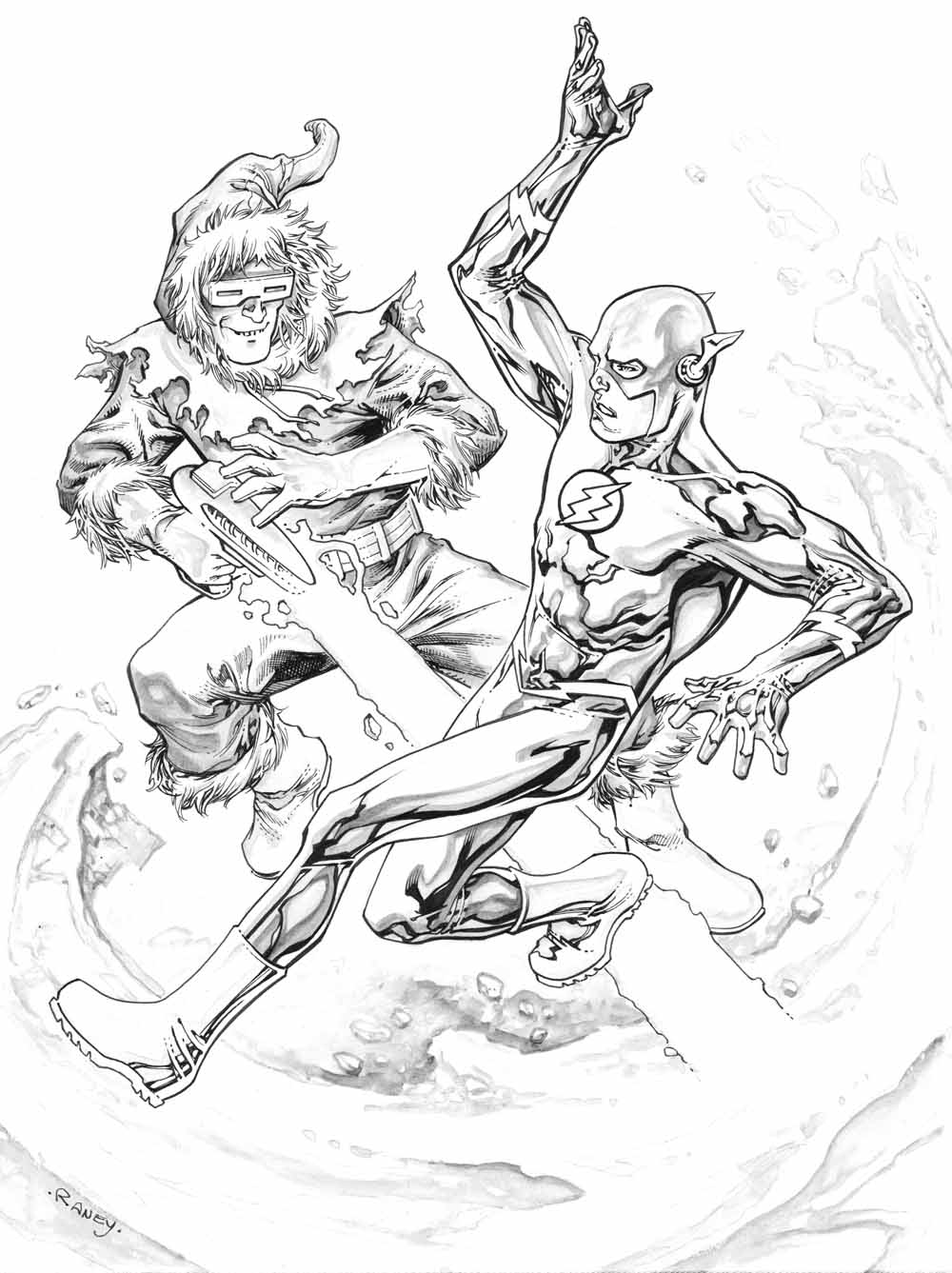 flash vs captain cold by tomraney on deviantart