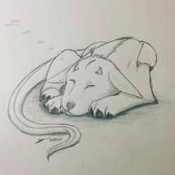 Inktober #8: Sleeping Dygon Puppy by fangcross666