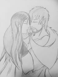 Inktober #10: The Assassin and His Wife No.1 by fangcross666