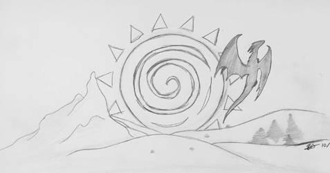 Inktober #16: Dragon of Day by fangcross666