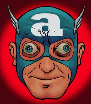 Captain America, as played by Marty Feldman.