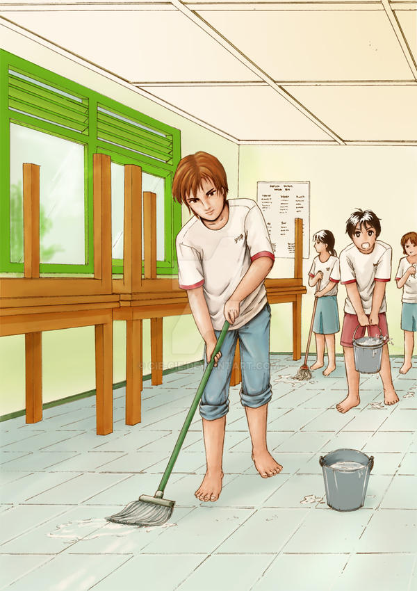 bersih-bersih kelas by cie-cie