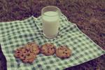 a cookie n' milk picnic