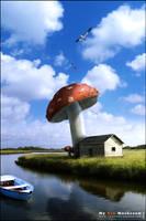 My BIG Mushroom by slempens