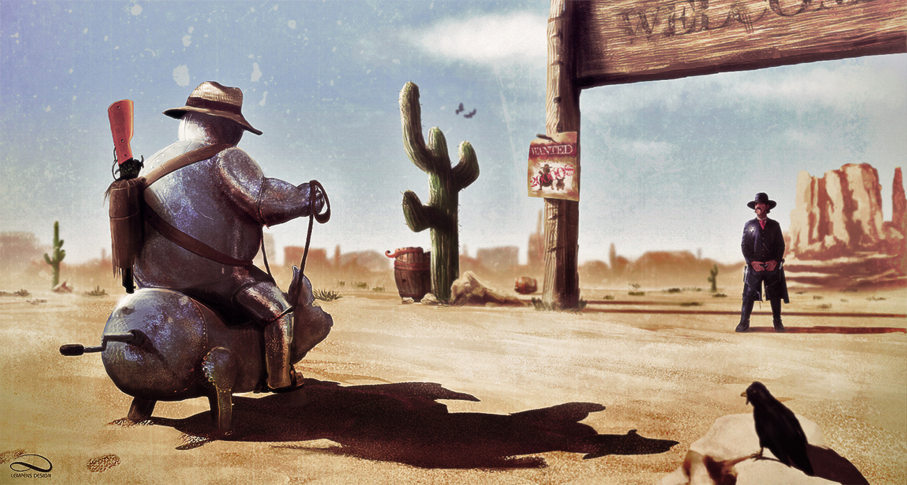 Steel Cowboy by slempens