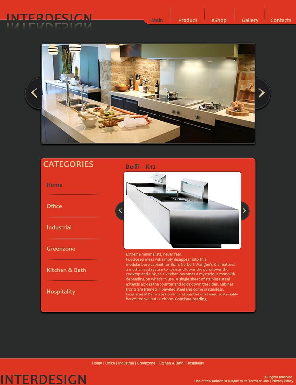 Interior design web page by flashnbones on deviantart for Interior designs website