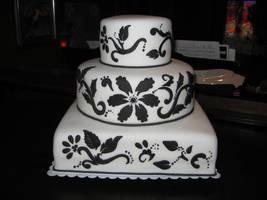 black white wedding by cakelover88